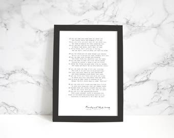 "12x18"" Rudyard Kipling ""If"" print"