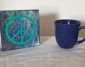 6x6 world peace sign