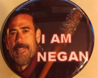 Walking Dead I Am Negan 2.25 Inch Wearable Button