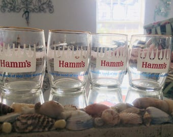 Vintage Hamm's Beer Glasses
