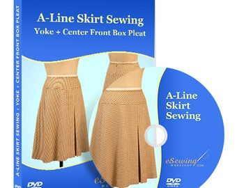 A-Line Skirt Sewing Video Lesson on DVD