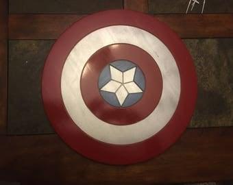 Captain America Shield Wood Wall Art