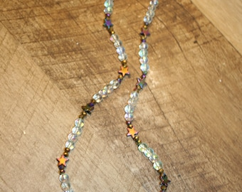 Celestial star beaded necklace