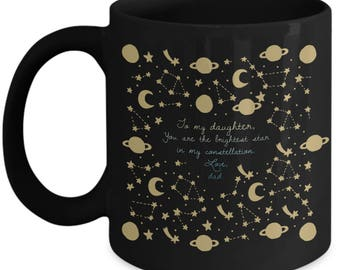 To my daughter star themed 11 oz Coffee Mug