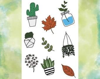 2 packs Plant Sticker