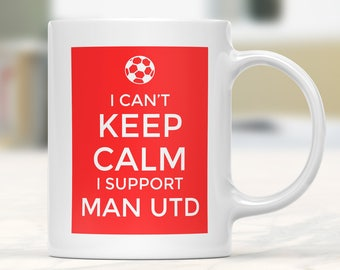 Manchester United Supporter Mug, Football Gift Mug, Football Supporter Mug, Funny Football Mug, Football Fan Present, Football Team Lover