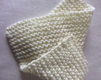 Hand knitted 100% cotton washcloth