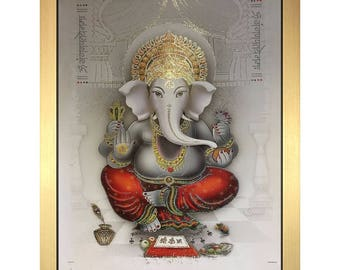 Ganesh Vinayaka Hindu Bhagwan God In Size – 28″ X 20″ Inches | Photo Frames