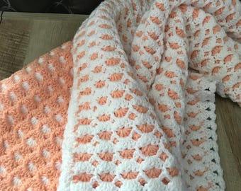 Crochet Reversible Baby Blanket