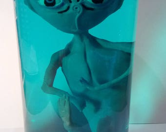 Alien sculpture 20 cm original piece of interior or for collection. exclusive