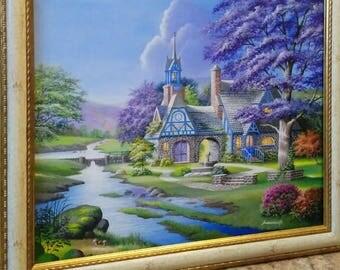 "Painting ""Clocktower cottage"""