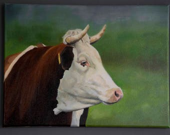 Cow in oil painting 2