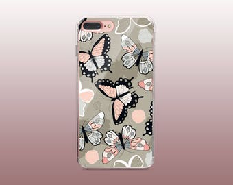 Butterfly Clear TPU iPhone Case for iPhone 8- iPhone 8 Plus - iPhone X - iPhone 7 Plus-iPhone 7-iPhone 6-iPhone 6S-Samsung S8