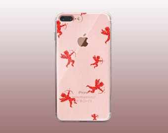 Cupid Clear TPU Phone Case for iPhone 8- iPhone 8 Plus - iPhone X - iPhone 7 Plus-iPhone 7-iPhone 6-iPhone 6S-Samsung S