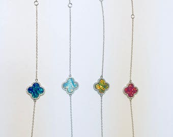 Opal Clover Bracelet