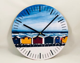 The Beach Hut Clock