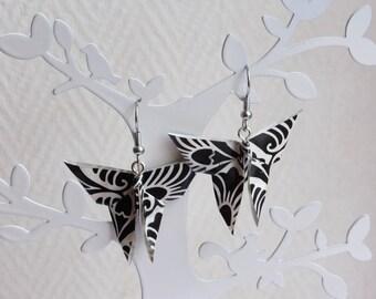 Origami Earrings: Monarch Butterfly