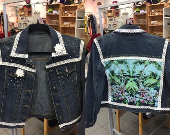Reworked denim / jean jacket