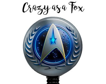 Star Trek Retractable Badge Holder, Badge Reel, Lanyard, Stethoscope ID Tag, Nurse, RN, Doctor, Teacher, Nursing student