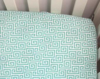 Crib/Toddler sheet   Mint Swirls