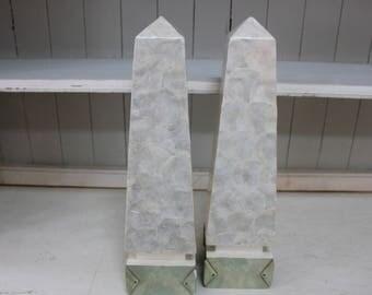Capiz Shell Obelisks