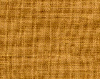 Autumn Gold Solid Linen Fabric / Textiles / Fabric by the Yard