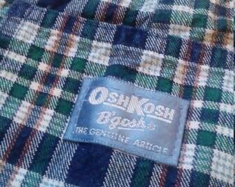 Plaid OSH KOSH B'GOSH Boys Overalls