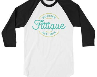 Fittique 3/4 sleeve raglan shirt