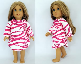 "Nightie fits 18"" dolls such as American Girl"