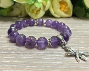 Amethyst hand made women bracelets