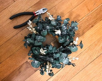 Mini Dried Eucalyptus Wreath | home decor | wall decor | gallery wall |farmhouse | candle ring