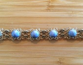 Blue Filigree Bracelet
