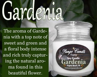 Gardenia Scented Soy Jar Candle (16 oz.)