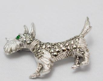 Charming Scottie Dog Brooch