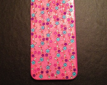Pink flower iphone 6s case