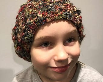 Ribbed Lacy Slouch Hat
