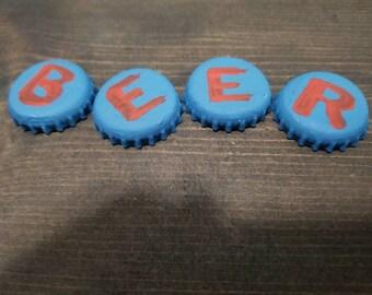 BEER cap magnets