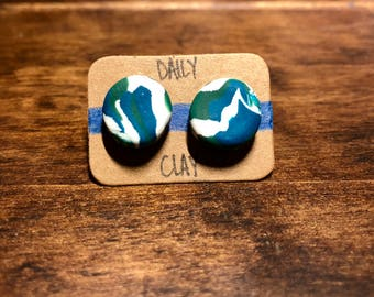 Polymer Clay Earring 13mm
