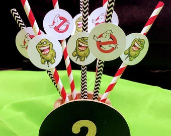 Ghostbusters Party Straws
