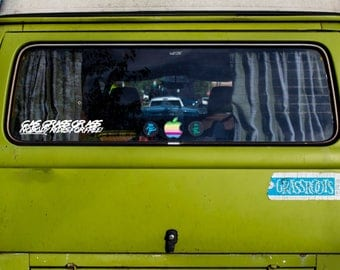 Gas, Grass or Ass Decal