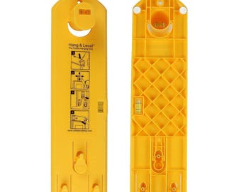 Picture Hanging Tool, Hang & Level The Picture Hanging Tool, Hang and Level, Picture Level, Picture Frame Leveler, Canvas Level, Yellow