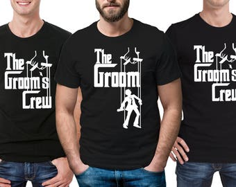 Godfather style Stag Party Stag do T-Shirts.  Any personalization for FREE.