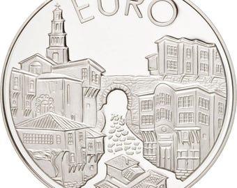 bulgaria 10 leva 1999 sofia km #249 ms(65-70) silver 38.5 24.32