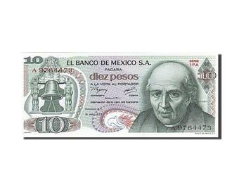 mexico 10 pesos 1977 km #63i 1977-02-18 unc(63) a 9764473