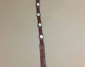 Genuine Leather Concho Belt