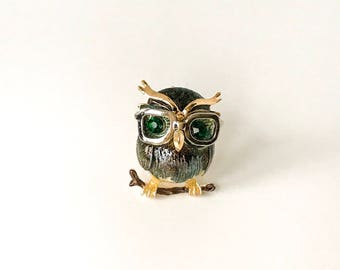 Owl (wearing glasses!) Brooch