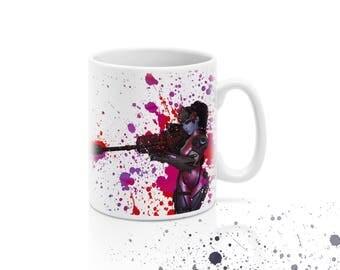 Widowmaker Coffee Mug, Overwatch Coffee Mug, Overwatch Mug