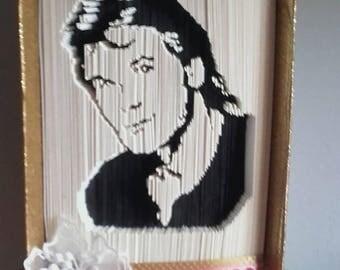Folded book Patrick Swayze
