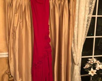 ECI Red Chiffon Gown Size 10