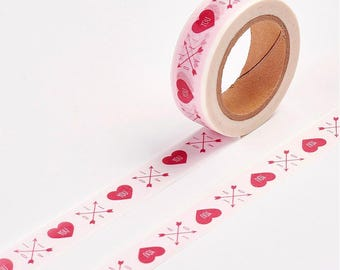 Heart/Valentines Washi Tape - 15mm x 10 Meters - #SW101